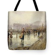 A Wet Day In Whitby Wc On Paper Tote Bag