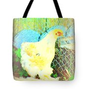 A Wet Hen In Its Own Little Paradise  Tote Bag