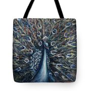 A White Peacock Tote Bag