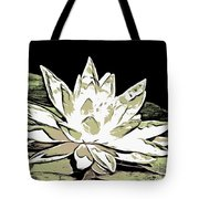 A  White Water Lily Tote Bag