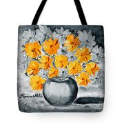 A Whole Bunch Of Daisies Selective Color I Tote Bag