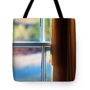 A Window With Torn Curtains Tote Bag