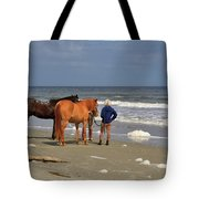 A Windy Day At Hunting Island Beach Tote Bag