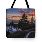 A Winter Dusk At West Quoddy Tote Bag