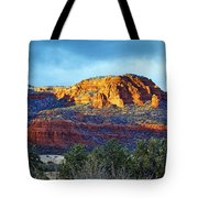 A Winter Dusting On Bear Mtn Tote Bag