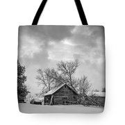 A Winter Eve Monochrome Tote Bag