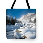 A Winter Morning In The Mountains Tote Bag by Cascade Colors