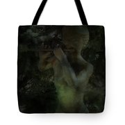 A Winter Muse Plays Silently In The Winter Wonderland Tote Bag
