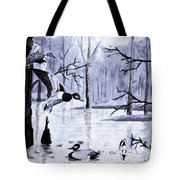 A Winter Reunion Tote Bag