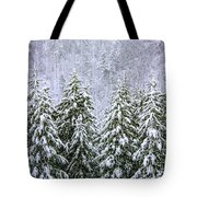 A Winter Scene Tote Bag
