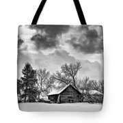 A Winter Sky - Oil Bw Tote Bag