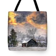 A Winter Sky Paint Version Tote Bag