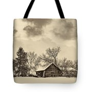 A Winter Sky Sepia Tote Bag