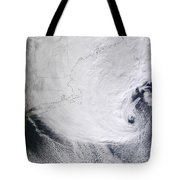 A Winter Storm Over Eastern New England Tote Bag