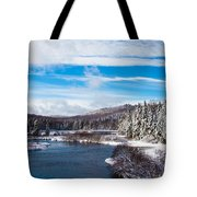 A Winter Wonderland On The Moose River Tote Bag