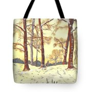 A Winters Glow Tote Bag