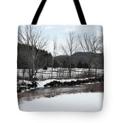 A Wintery Day In Vermont Tote Bag