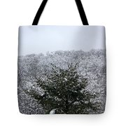 A Wintery View At The United States Military Academy At West Poi Tote Bag