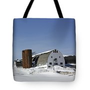 A Wintery View Of A Farm Along Route 7 In Duanesburg Tote Bag