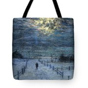 A Wintry Walk Tote Bag by Lowell Birge Harrison