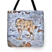 A Wolf In Winter Tote Bag by Skye Ryan-Evans