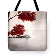 A Wolf's Cry To The Moon Tote Bag