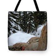 A Woman At A Natural Hot Springs Tote Bag