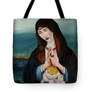 A Woman In Prayer Tote Bag by Joseph Demaree
