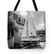 A Woman On Sailboat At Home Tote Bag