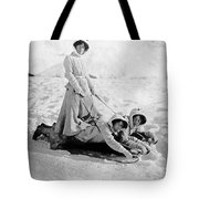 A Woman Rides On Two Friends Tote Bag