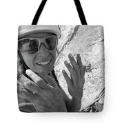 A Woman Rock Climber In Titcomb Basin Tote Bag