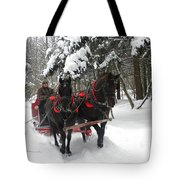 A Wonderful Day For A Sleigh Ride Tote Bag