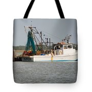 Seadrift Texas Working Boat Tote Bag