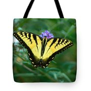 A Yellow Butterfly Tote Bag