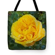 A Yellow Rose Abstract Painting Tote Bag