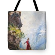A Young Girl By A Fjord Tote Bag