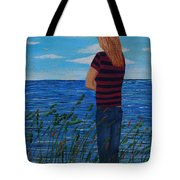 A Young Girl Dreaming Tote Bag