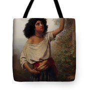 A Young Gypsy Woman With Tambourine  Tote Bag