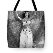 A Young Hawaiian Hula Woman Tote Bag