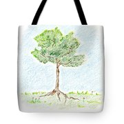 A Young Tree Tote Bag