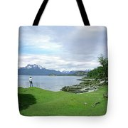 A Young Woman Looks Out Over The Sea Tote Bag