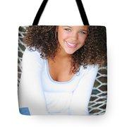A Young Woman On A Hammock Oregon, Usa Tote Bag