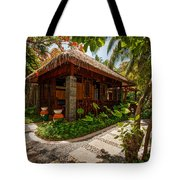 Aaramu Spa Hideaway In Tropical Garden. Maldives Tote Bag