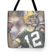 Aaron Rodgers Quotes Mosaic Tote Bag