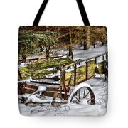 Abandoned In The Snow Tote Bag