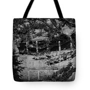 Abandoned And Forgotten Behind Trees Tote Bag