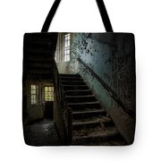 Abandoned Building - Haunting Images - Stairwell In Building 138 Tote Bag by Gary Heller