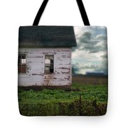 Abandoned Building In A Storm Tote Bag