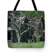 Abandoned Country Kansas Farm House Tote Bag