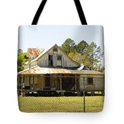 Old Abandoned Cracker Home Tote Bag